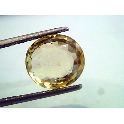 7.66 Ct Certified Unheated Untreated Natural Ceylon Yellow Sapphire